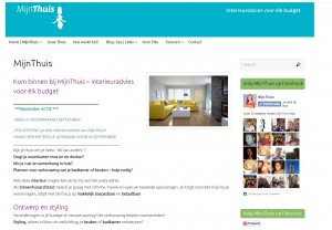 Website MijnThuis Interieuradvies